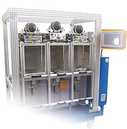 Iol filter testing machine. Dynamic Leak Tester